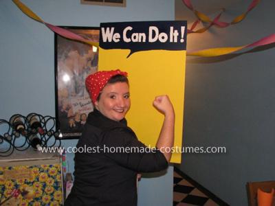 Homemade Rosie the Riveter Costume