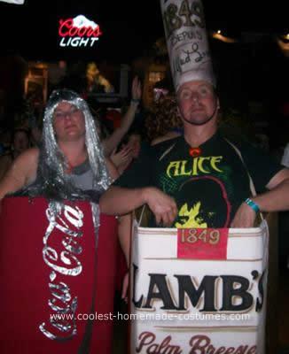 Homemade Rum and Coke Couples Costume