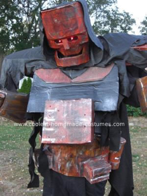 Homemade Rusted Robot Costume