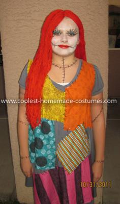 Homemade Sally from Nightmare Before Christmas Costume e 68