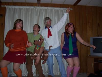 Homemade Scooby Doo and the Gang Group Costume