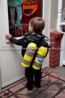 Homemade Scuba Diver Costume