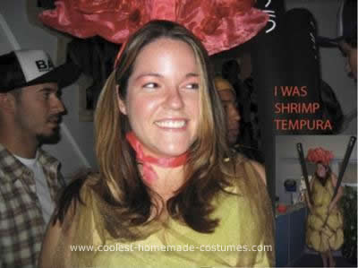 Homemade Shrimp Tempura Costume