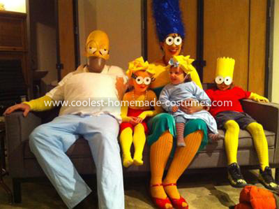 Coolest Simpson Family Costume 34
