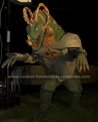 Homemade Smoke Breathing Dragon Costume