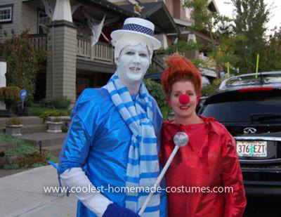 Homemade Snow Miser and Heat Miser Costumes