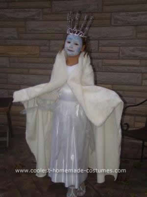 Homemade Snow Queen Costume