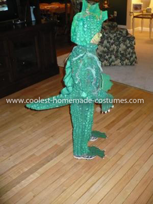 Homemade Swamp Monster Costume
