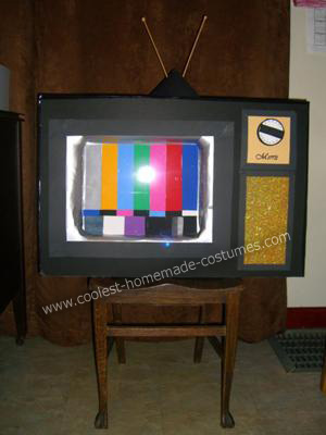 Homemade Television Child Halloween Costume