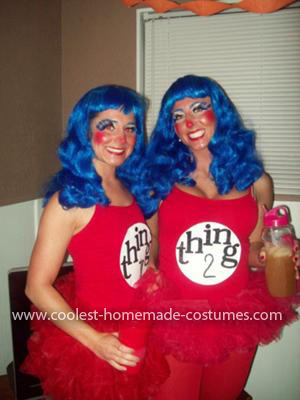 Homemade Thing 1 and Thing 2 Costume