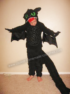 Toothless the Dragon DIY Halloween Costume