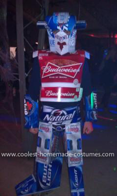 Homemade Transformers Optimus Prime Costume