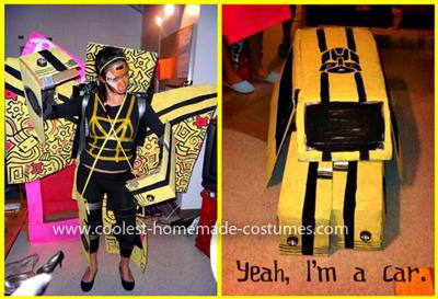Homemade Transforming Bumblebee Transformer Costume