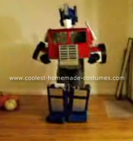 Homemade Transforming Optimus Prime Halloween Costume