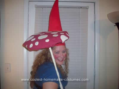 Homemade Travelocity Roaming Gnomette Adult Halloween Costume