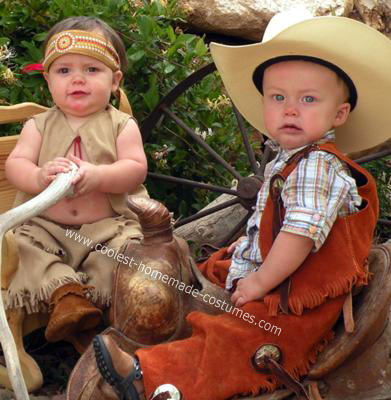 Twin Boy Cowboy and Indian Costumes