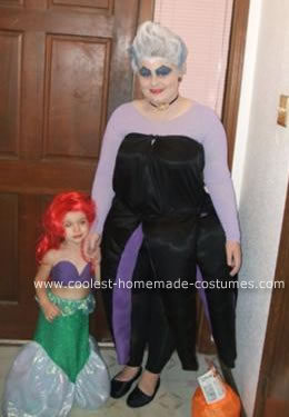 Homemade  Ursula the Sea Witch and Ariel Costumes
