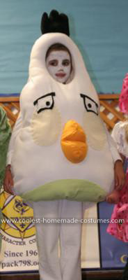 Homemade White Angry Bird Costume