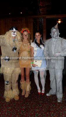Homemade Wizard of Oz Group Costume