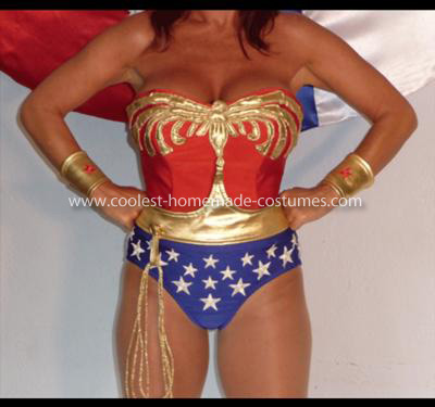 Homemade Wonder Woman Swim Costume