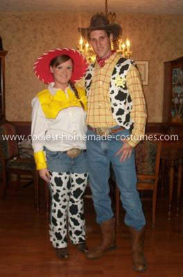Jessie and Woody Costumes Homemade http://www.coolest-homemade-costumes.com/coolest-woody-and-jessie-adult-couple-costume-9.html