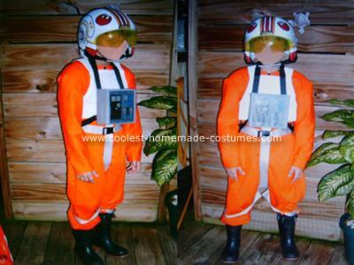 Homemade X-Wing Pilot Halloween Costume