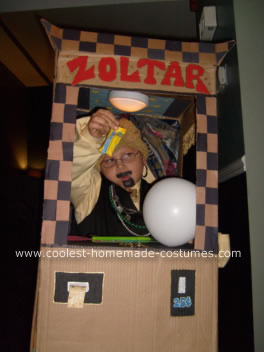 Homemade Zoltar Fortune Teller Machine Costume