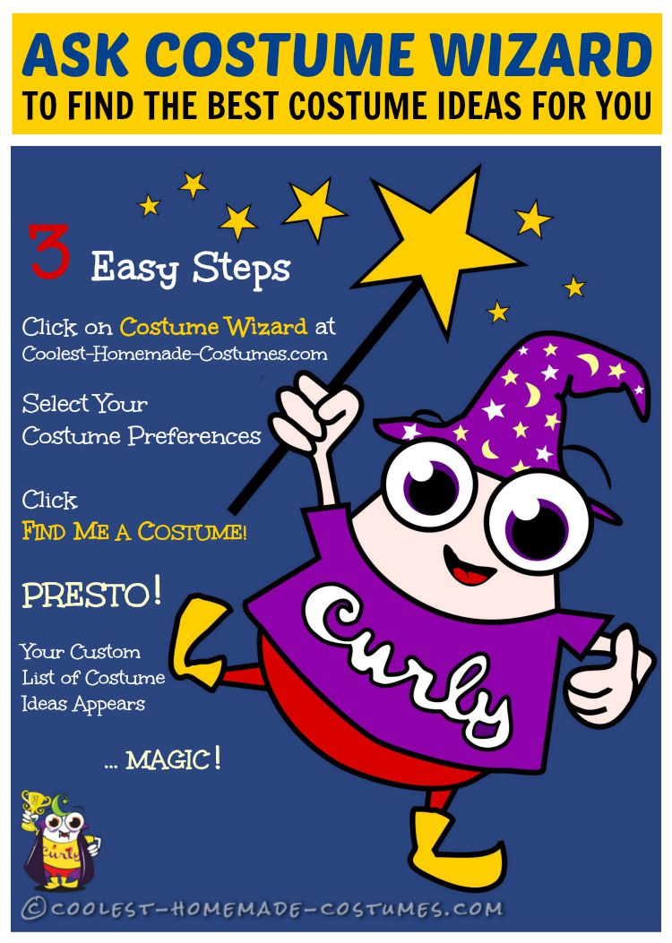 Brainstorm Your DIY Homemade Costume Idea in 3 Easy Steps with the Costume Wizard Brainstormer!