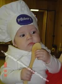 Homemade Pillsbury Doughboy Costume