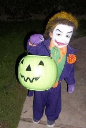 Coolest Old School Joker Costume for a Child