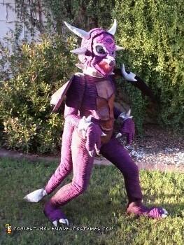Purple Lightening Breathing Dragon Costume