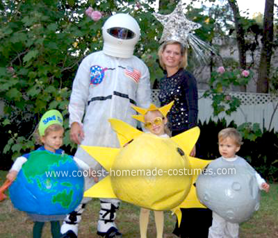 Coolest Homemade Outer Space Family Halloween Costume