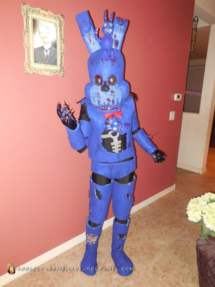 13-Year Old Creates Bonnie Costume On Her Own