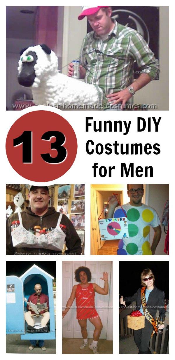 Top 13 DIY Funny Adult Halloween Costumes For Men