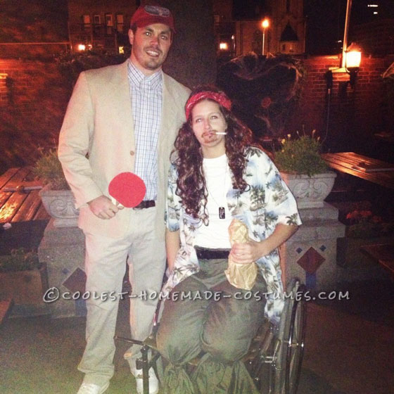 Funny Homemade Couple Costume Idea: Forrest Gump and Lt. Dan