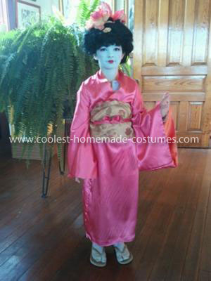 Coolest Homemade Girl's Geisha Costume