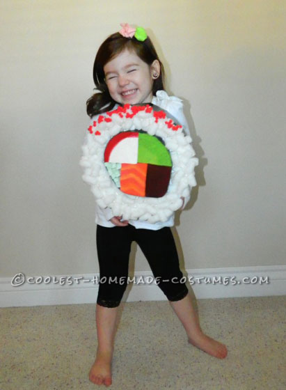 Coolest Sushi Roll Costume for a Girl!