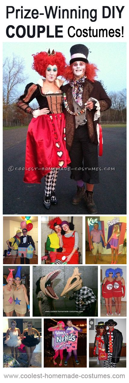 Whether you're teaming up with your significant other or a good friend, these costumes will get you started on your own couple costume project, and also show you what it takes to make a costume that can bring home the coolest Halloween couples prize.