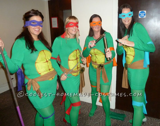 Teenage Mutant Ninja Turtles Girl Halloween Group Costumes