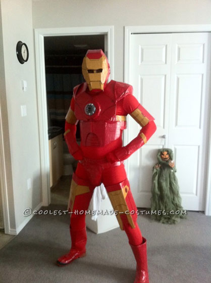 Awesome Homemade Iron Man Halloween Costume