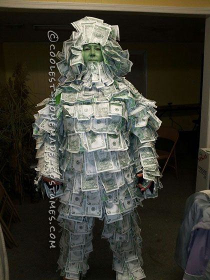Awesome Homemade Geico Money Man Costume