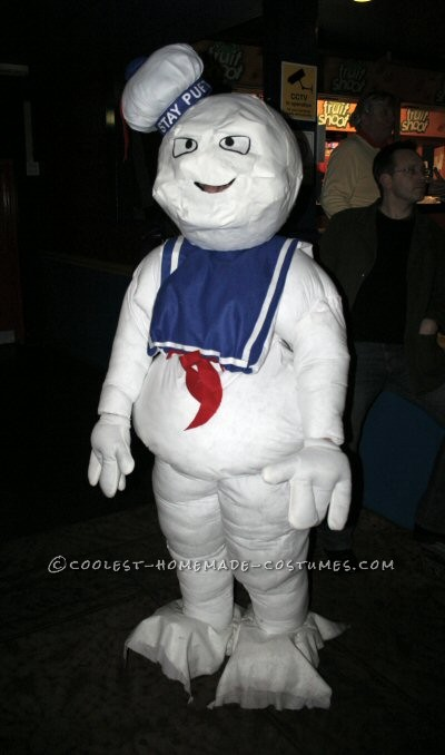 Coolest Hand Made Mr. Stay Puft Costume