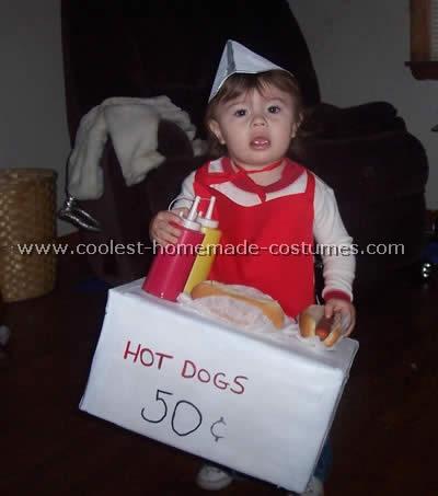 Hot Dog Vendor Homemade Halloween Costume