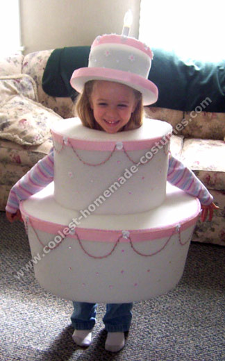 Birthday Cake-Shaped Homemade Halloween Costume