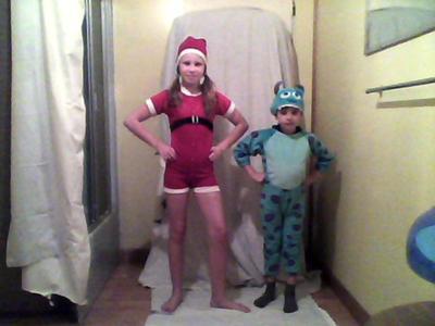 Sulley and Santa Costumes