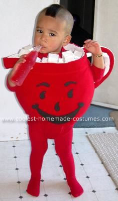 Homemade Toddler Kool Aid Man Costume