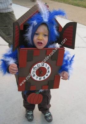 DIY Cuckoo Clock Infant Toddler Halloween Costumes