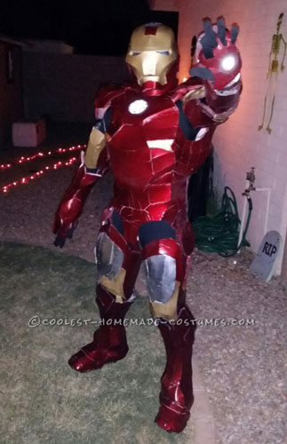 Last Minute Homemade Ironman Costume