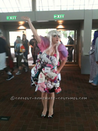 Coolest Homemade Lady Gaga Hello Kitty Extravaganza Costume