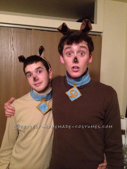 Scooby and Scrappy Doo Last Minute Halloween Costume for a Couple